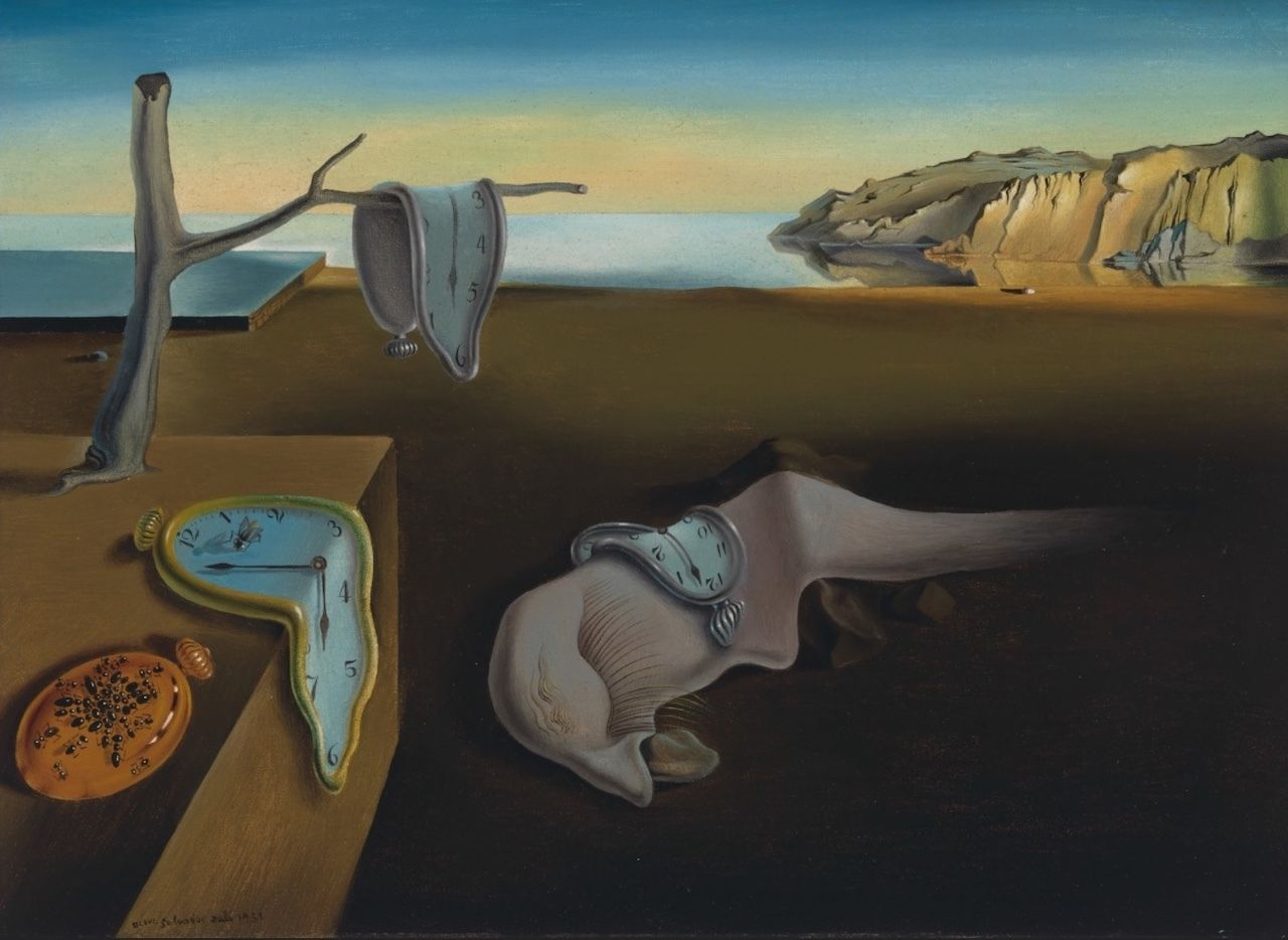 The Persistence of Memory by Salvador Dali at the MoMA in New York City, The MoMA