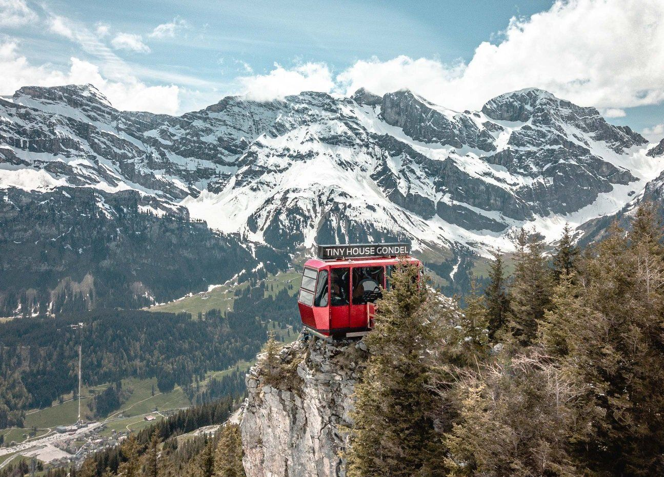 Tiny House Gondel, Brunni in Switzerland is a great place to stay for epic views, Switzerland views