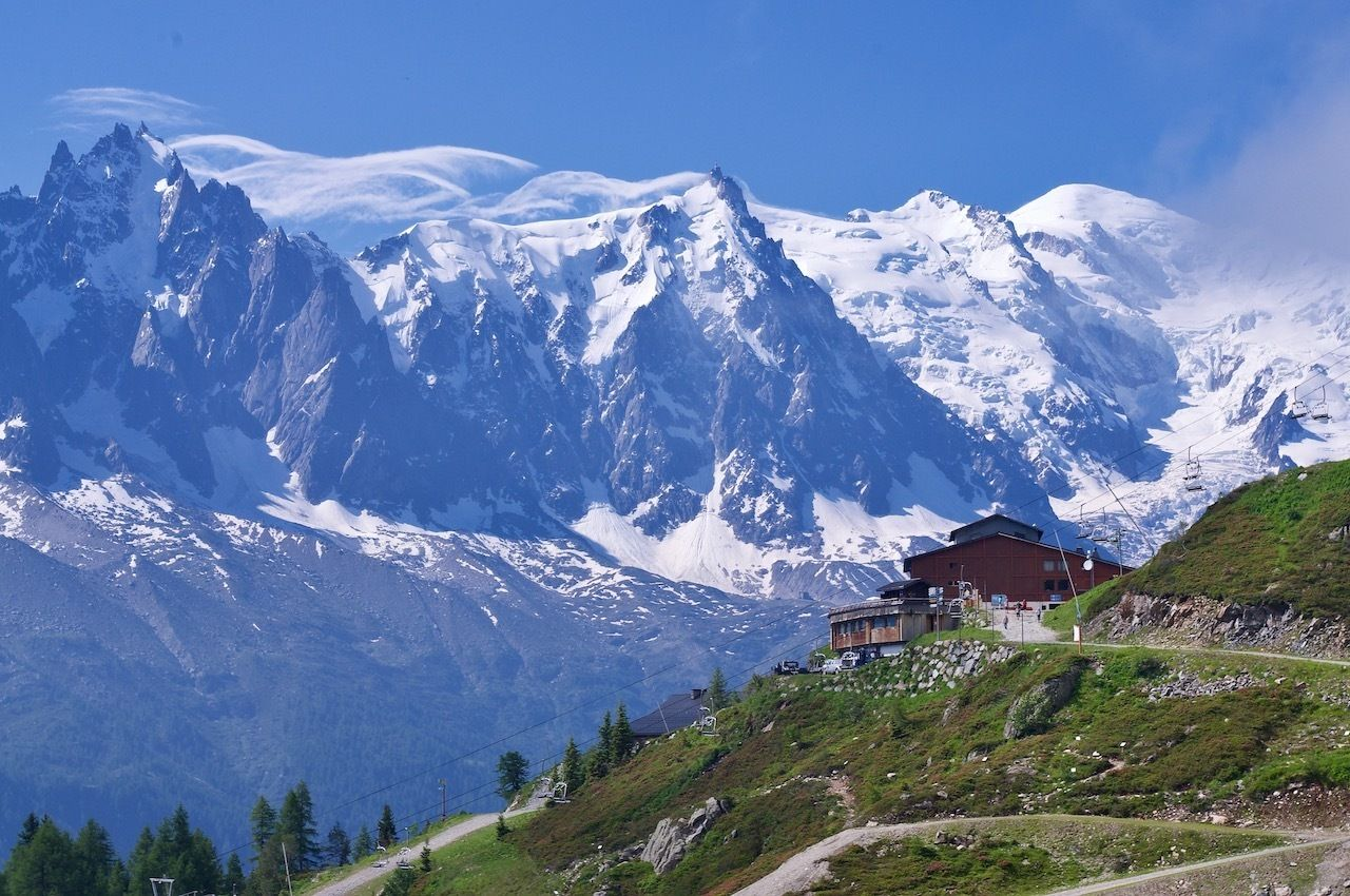 Top Flegere Station, hikes to glaciers
