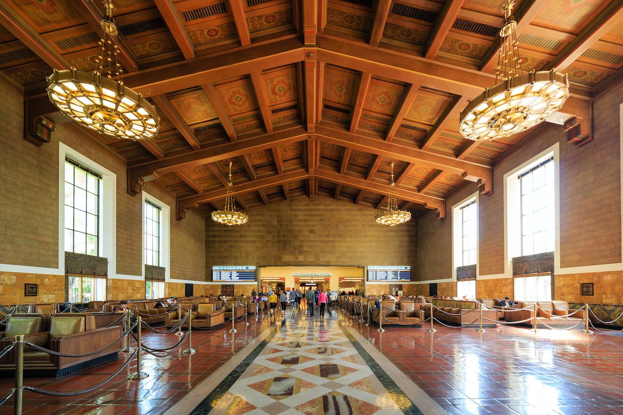 Los,Angeles,,Oct,1:,The,Historical,Union,Station,On,Oct, beautiful train stations