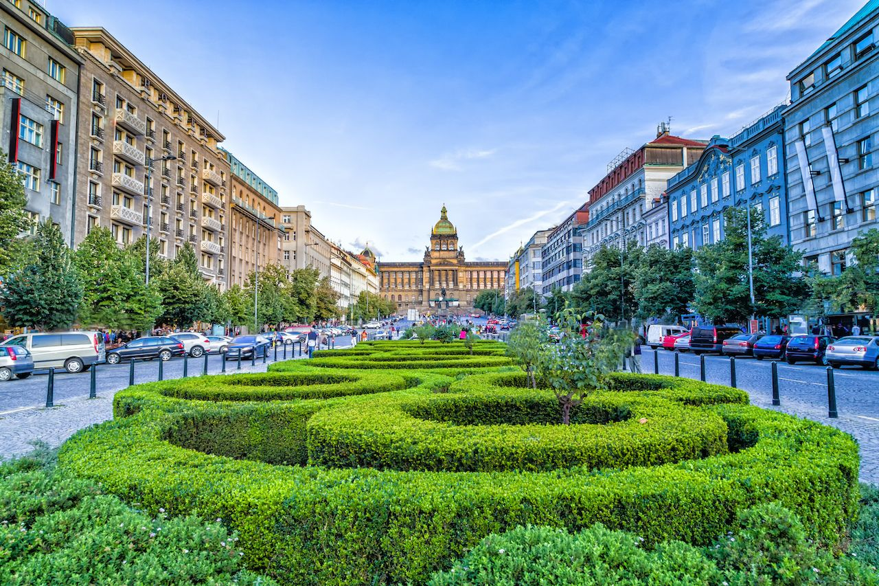Buildings,And,Houses,In,The,Historical,Center,Of,Prague.,Wenceslas,  New Town