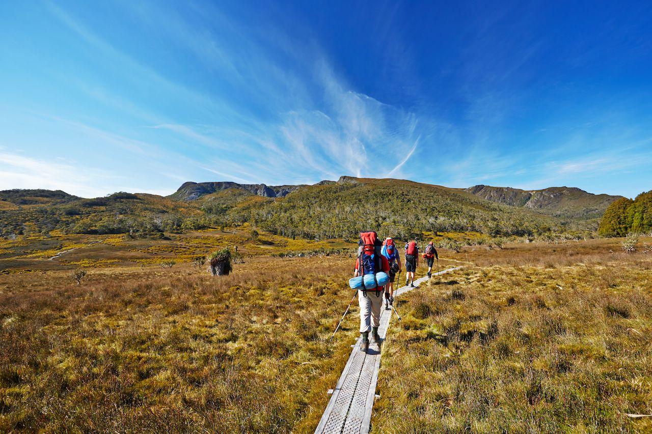 Hikers,On,Overland,Trail,In,Tasmania,,Australia,Things to do in Tasmania