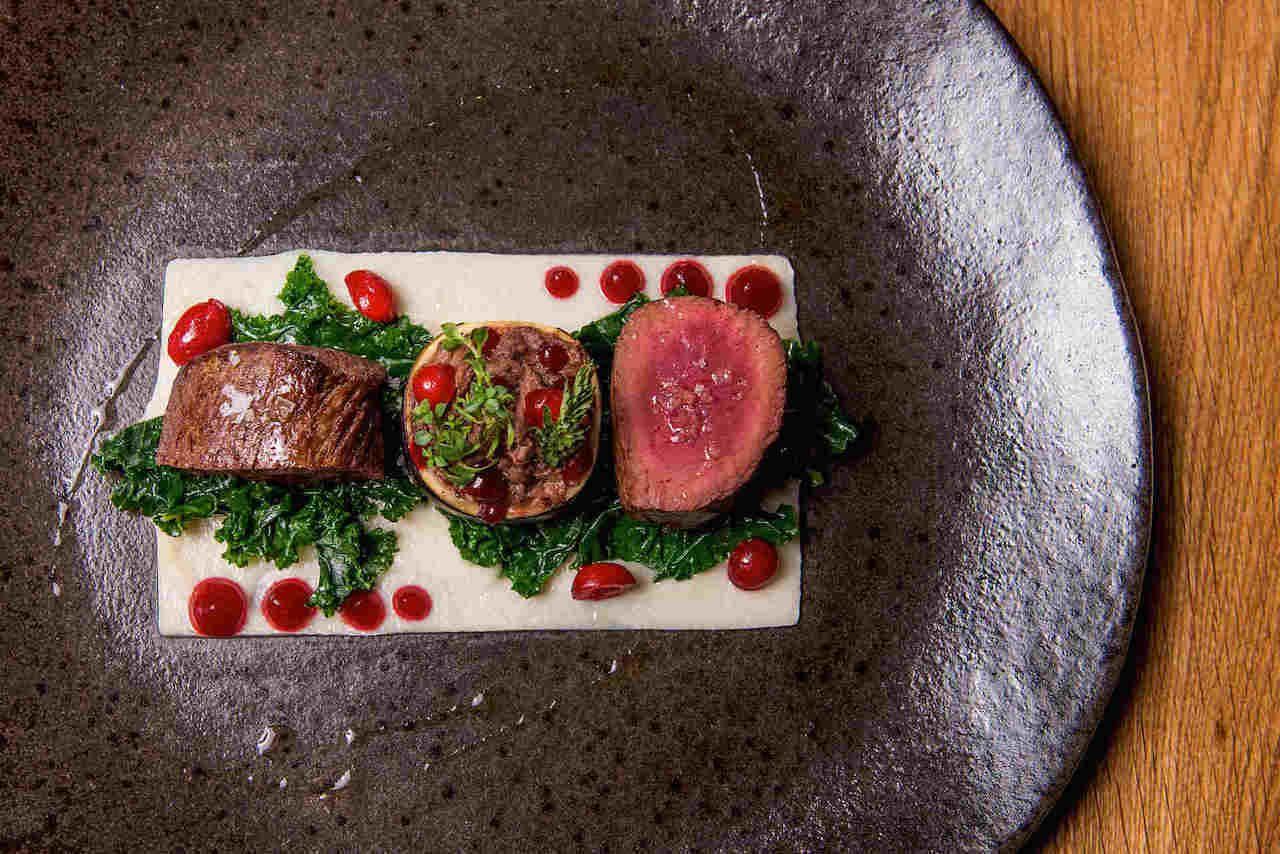 Portfolio restaurant beef dish, prague restaurants