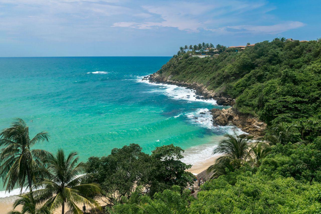 Turquoise,Waters,Of,Puerto,Escondido,Carrizalillo,Beach, Puerto Escondido