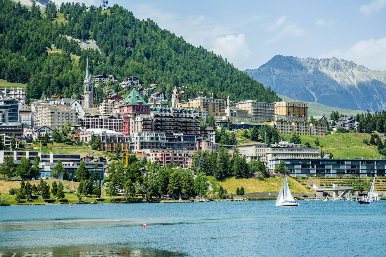 View,Of,St,Moritz,With,Lake, one week in Switzerland