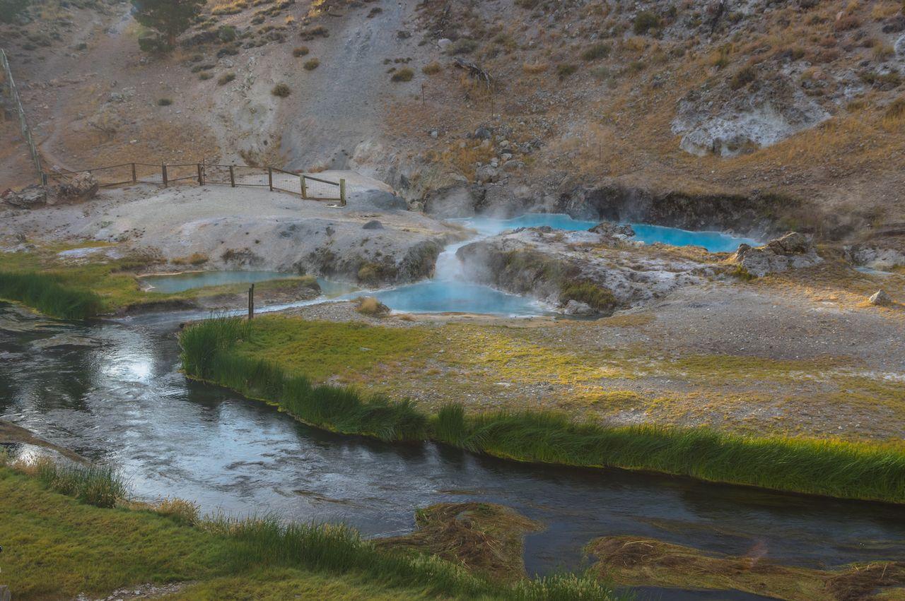 Spring at Hot Creek in Sierra Nevada