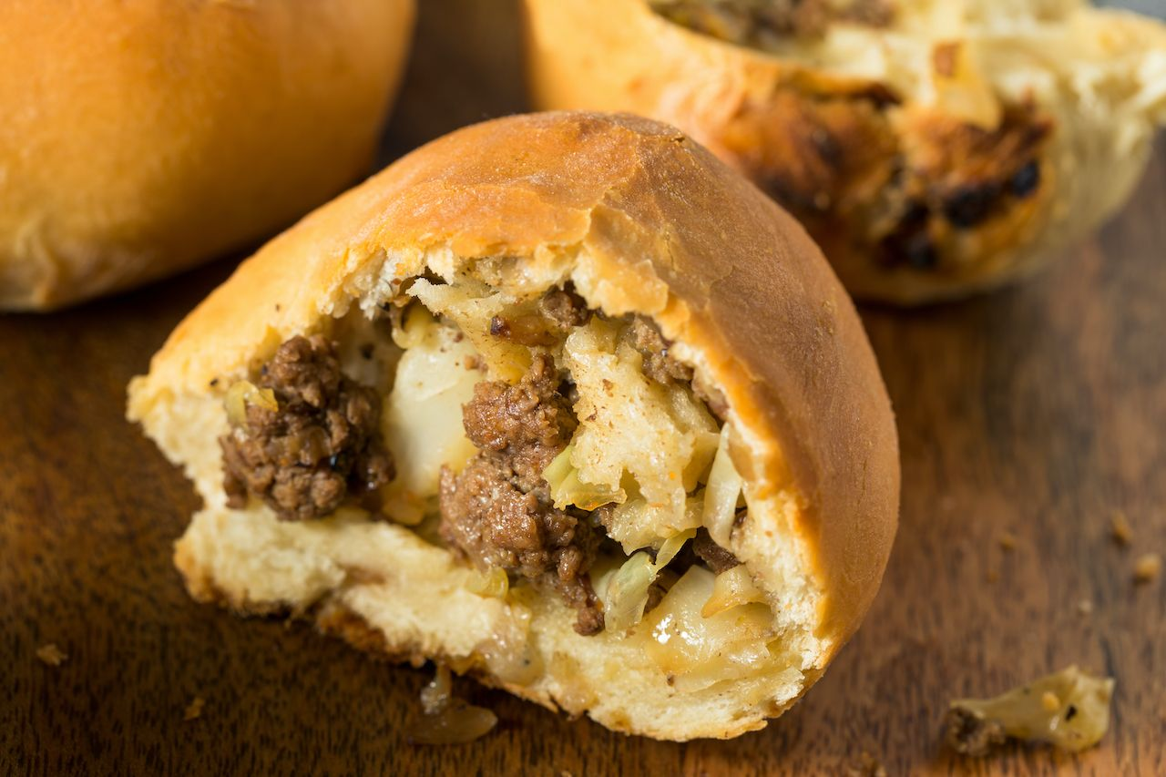 Homemade Beef Russian Bierocks with Cabbage and Onion, experiences Nebraska