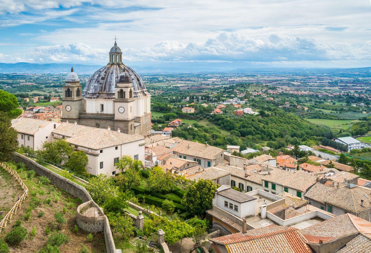 Santa,Margherita,Basilica,In,Montefiascone,,Province,Of,Viterbo,,Lazio,,Central,  Tuscia town