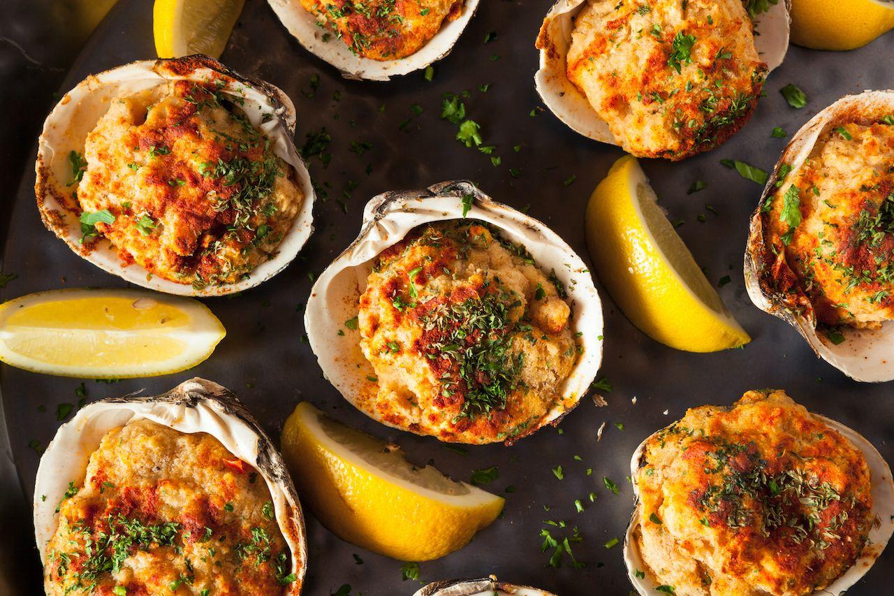stuffed-rhode-island-clams-stuffies-388290016, Rhode Island clams