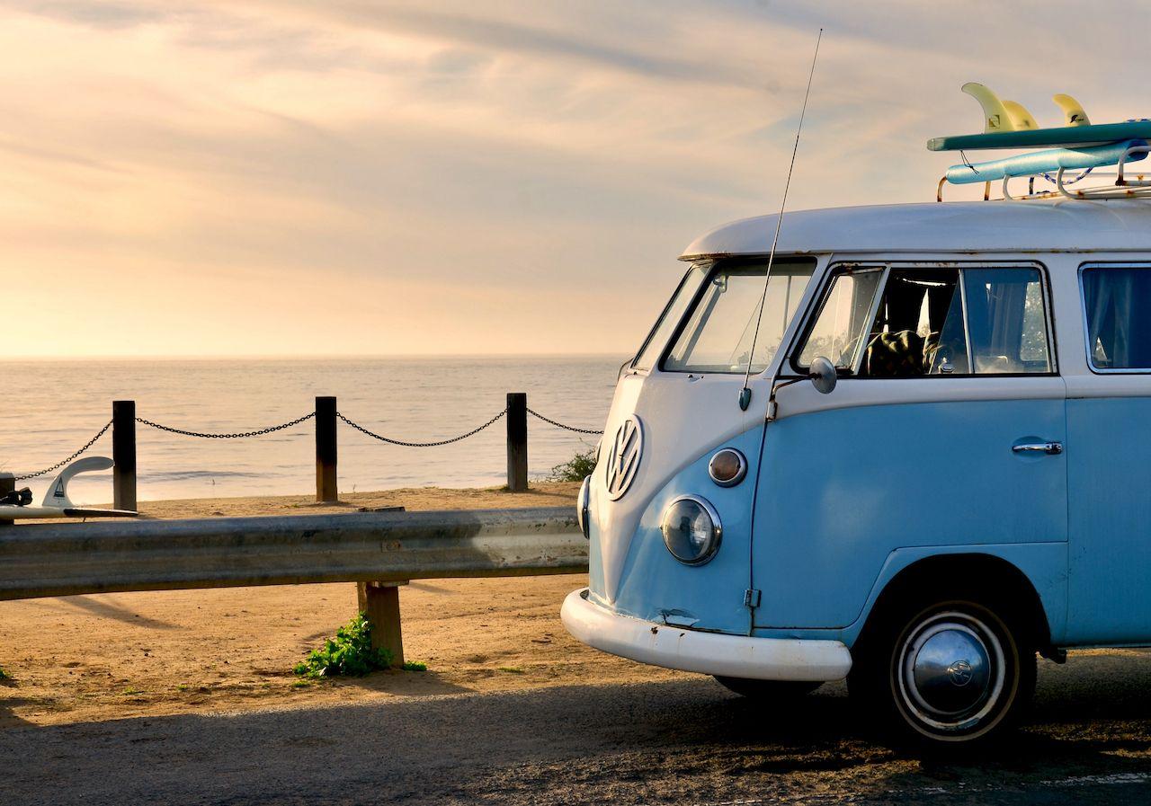 San,Diego,,Ca/us,-,02/14/2017,Vintage,Vw,Hippie,Van,In, Where to camp for free in a van