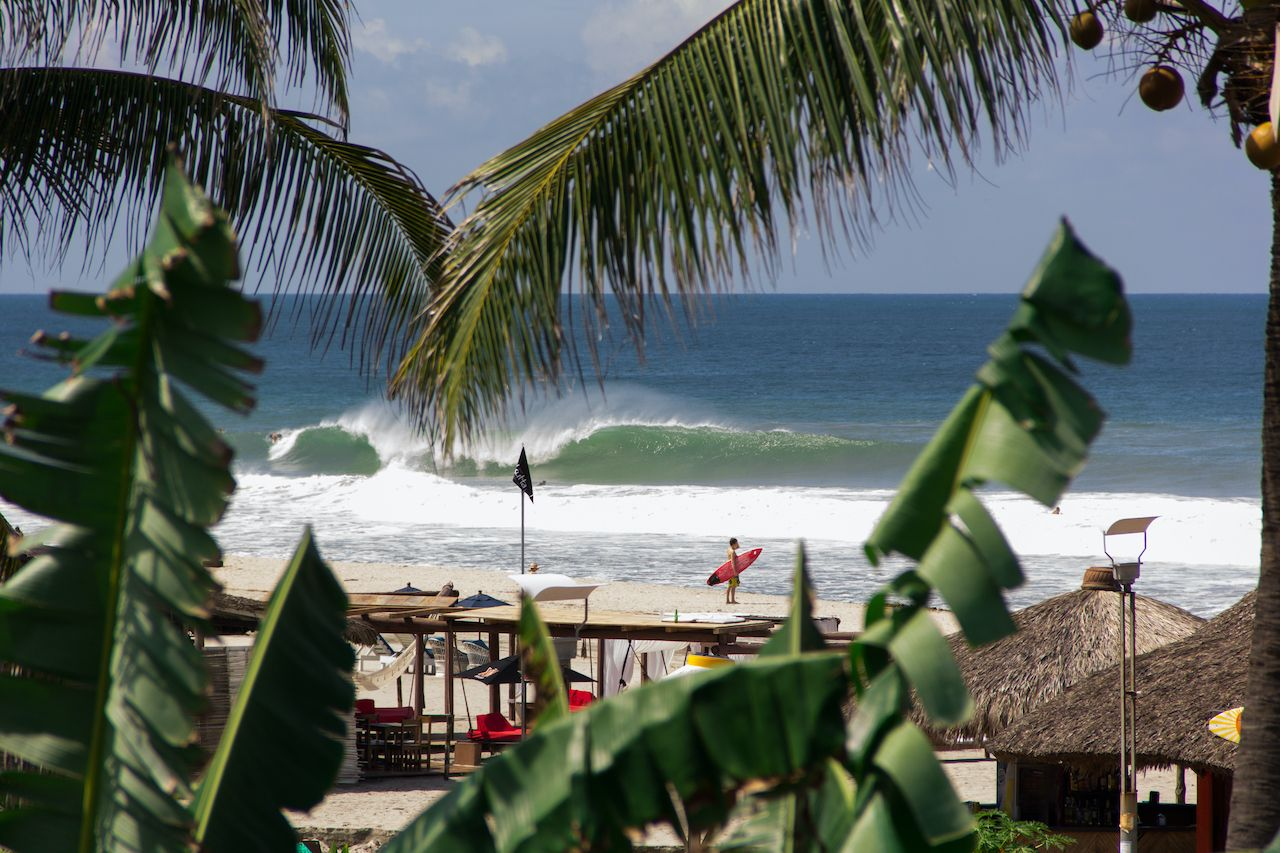 Surfer,Looking,The,Wave,Breaking,At,Zicatela,Beach,,Mexico, Puerto Escondido