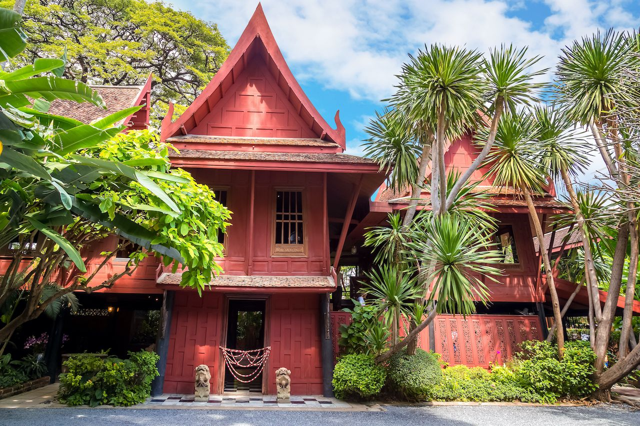 BANGKOK, THAILAND - DECEMBER 30: Jim Thompson Museum in Bangkok, Thailand on December 30, 2014. House of the founder of Jim Thompson Thai Silk Company. He disappeared on a trip in Malaysia in 1967, bangkok art and culture