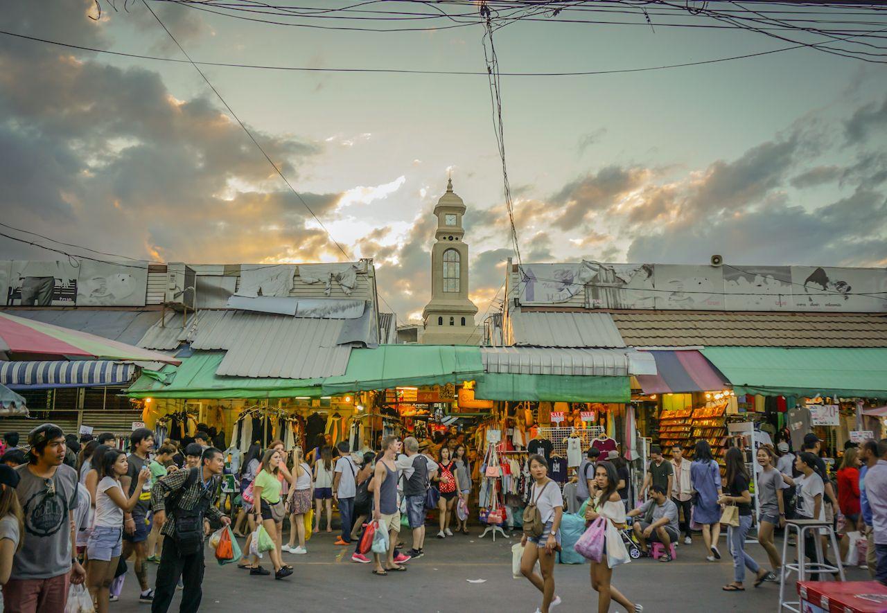 BANGKOK,THAILAND - 2016 July 31 :  The Chatuchak or Jatujak Weekend Market, a popular tourist destination. is the largest market in Thailand. open Saturday and Sunday., bangkok neighborhoods