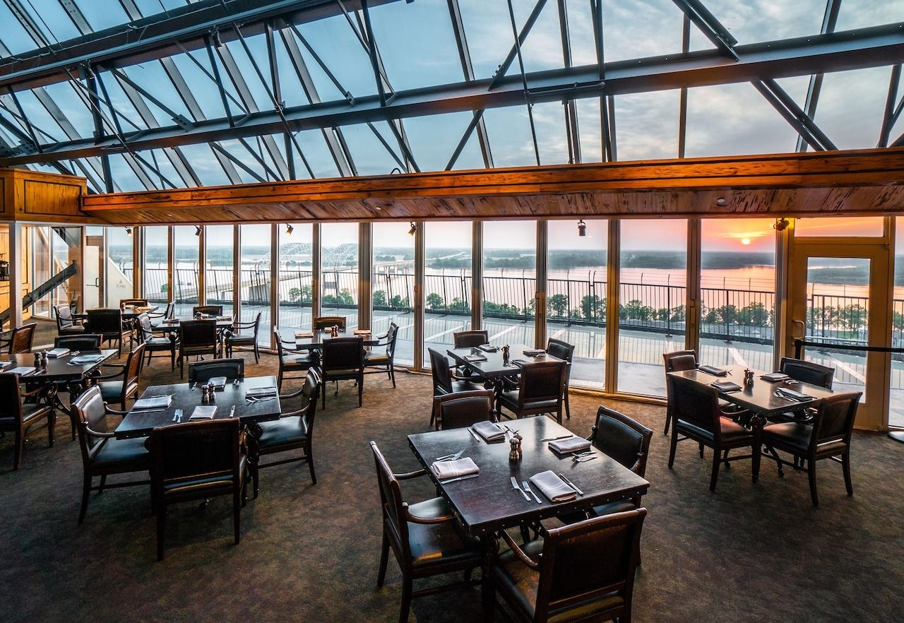 Dine at the peak of the Pyramid when you visit the Lookout, Big Cypress Lodge