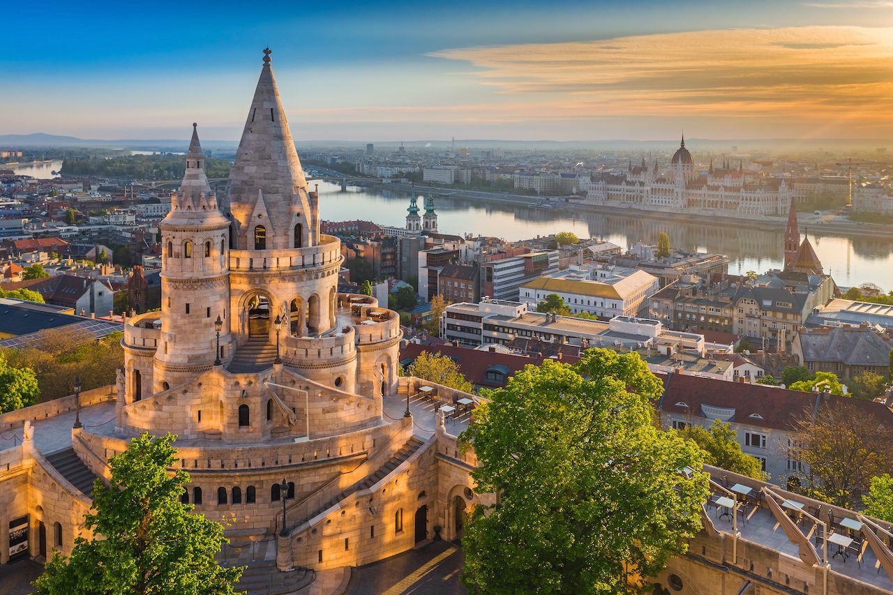 Budapest,,Hungary,-,Beautiful,Golden,Summer,Sunrise,With,The,Tower, Blockbuster shot in Budapest
