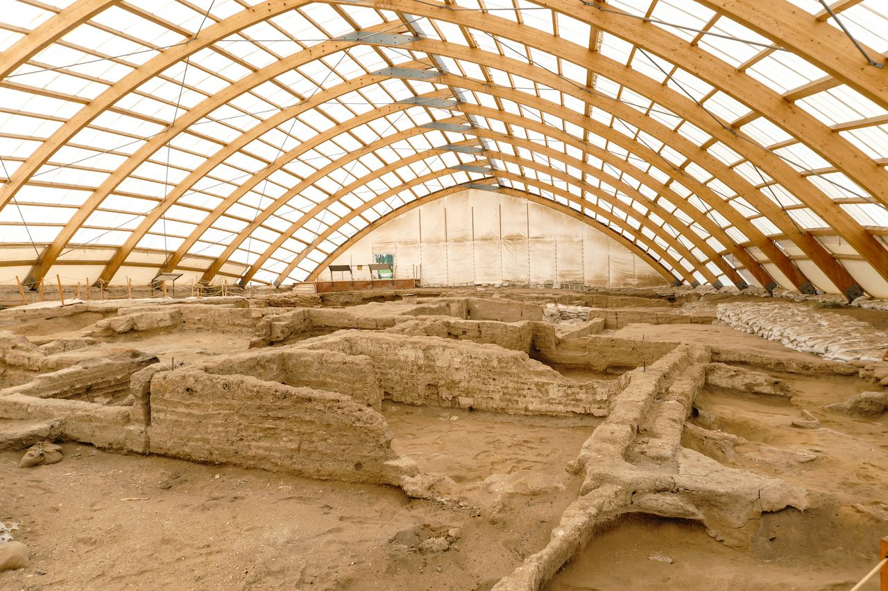 Catalhoyuk,Is,Oldest,Town,In,World,With,Large,Neolithic,And, Çatalhöyük
