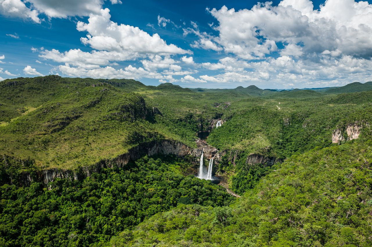 View,From,Mirante,Da,Janela,To,The,Waterfalls,In,Chapada, Chapada dos Veadeiros