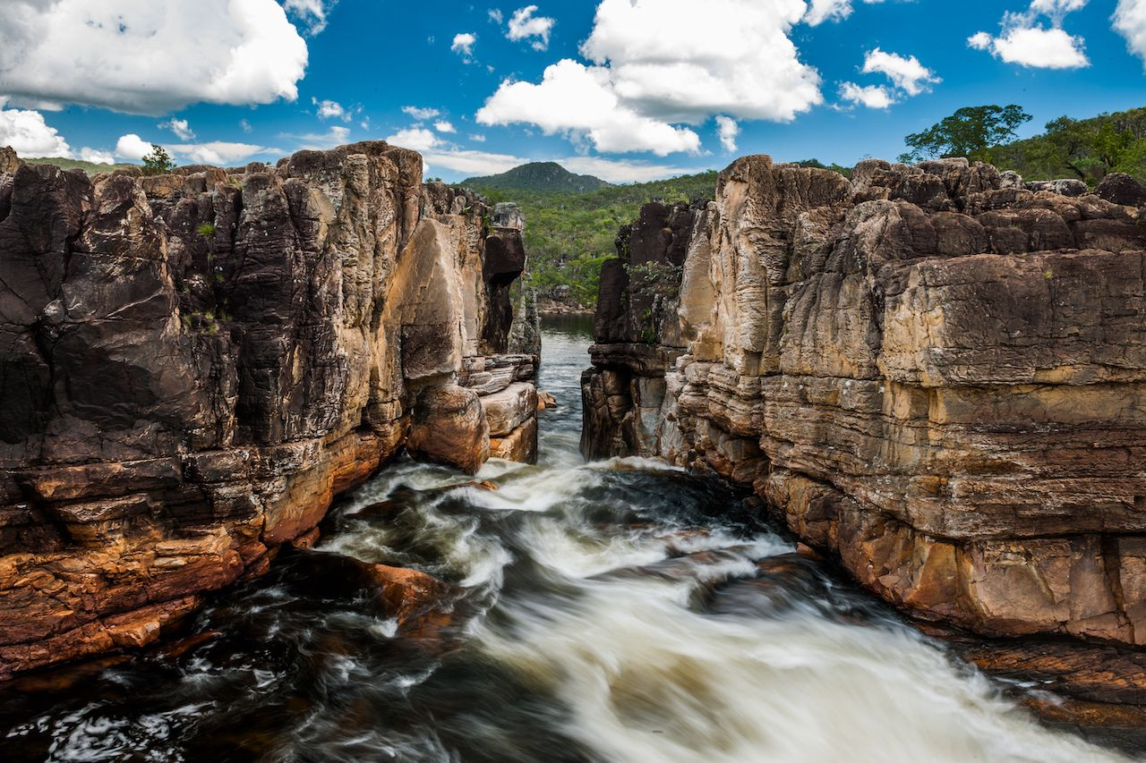 Rio,Preto,(black,River),Near,Canyon,2,In,Chapada,Dos,Chapada dos Veadeiros
