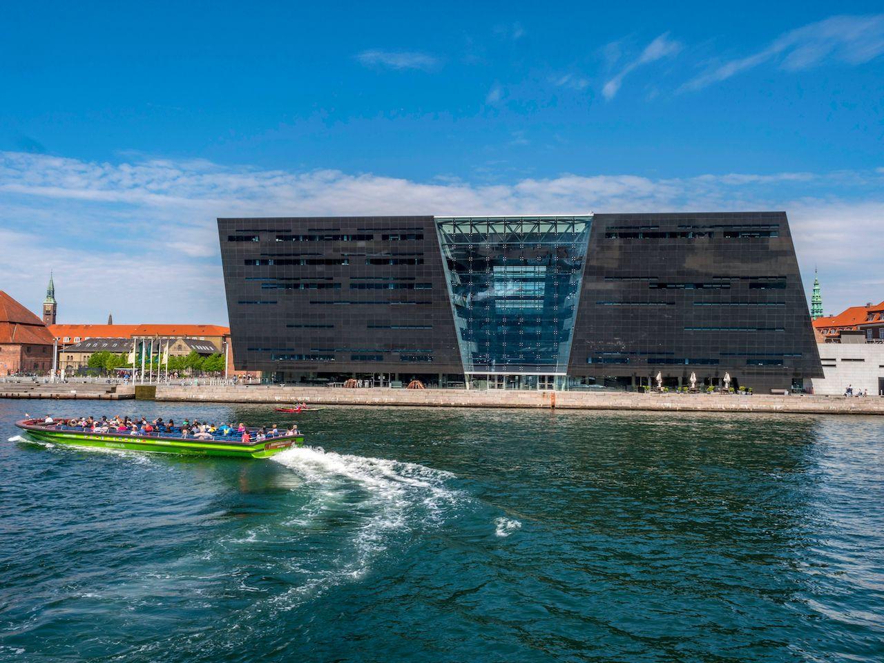 The Black Diamond, modern addition to the Royal Danish Library Copenhagen, Denmark, Scandinavia, Europe, 22. May 2016, Denmark architecture