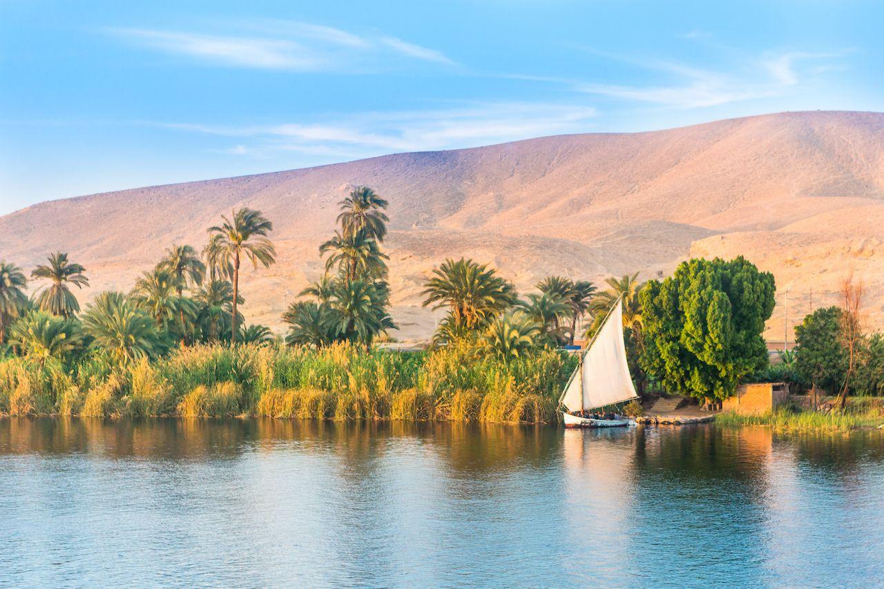 River Nile in Egypt. Luxor, Africa.,Nile cruise