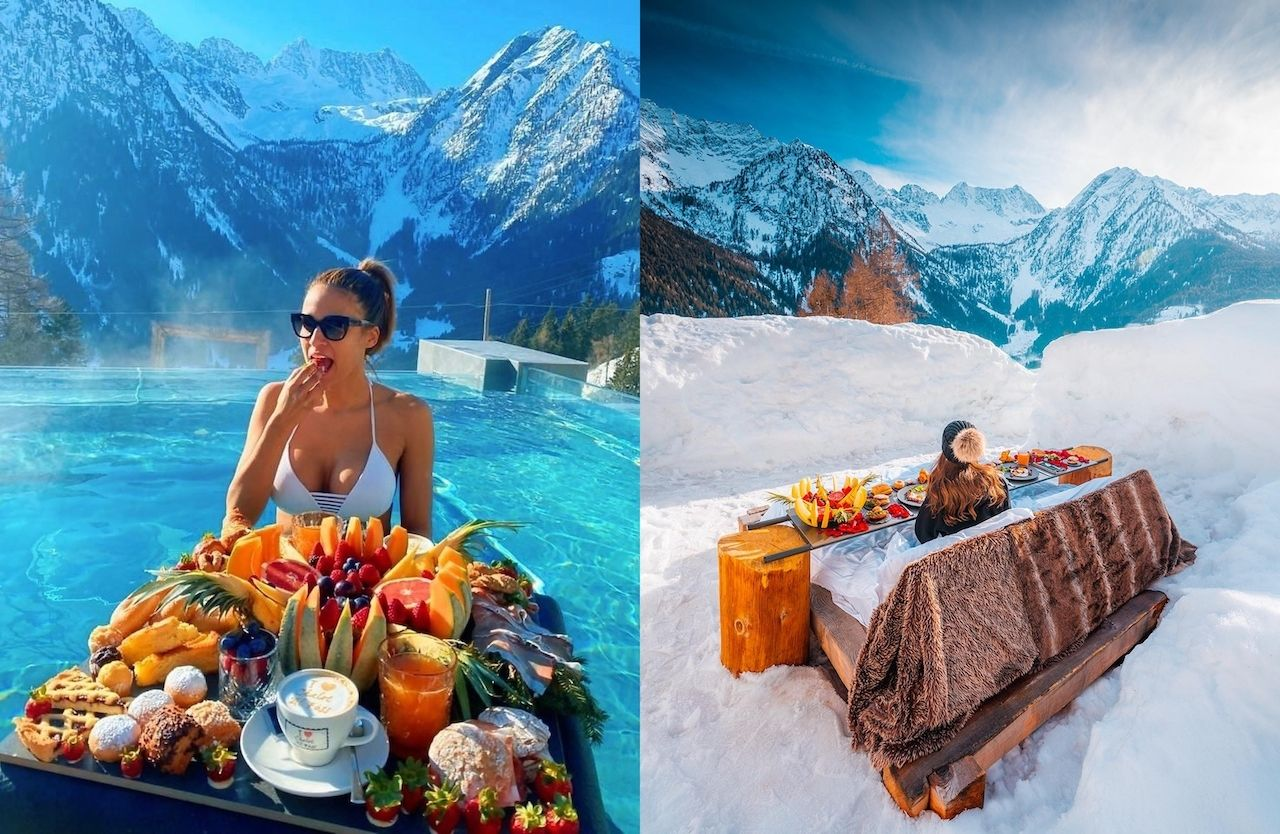Chalet al Foss, Italy , Floating breakfasts