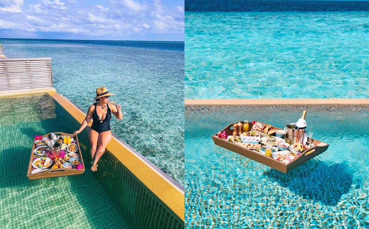 Hurawalhi Resort, Maldives, floating breakfasts