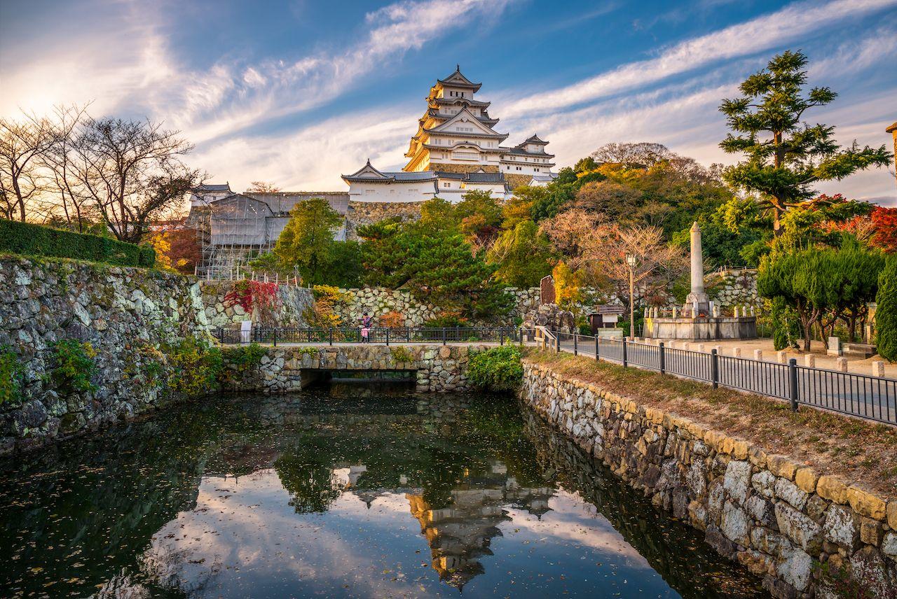 Himeji,Castle,In,Himeji,City,At,Dramatic,Sunset,,Hyogo,Prefecture,Kansai