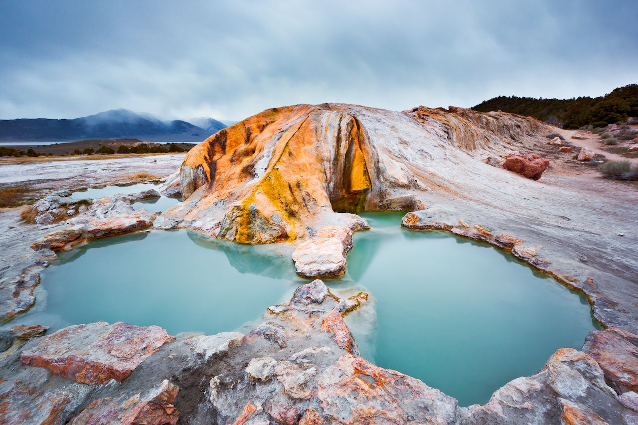 Travertine,Hotsprints,Outside,Bridgeport,,California,Seem,Like,An,Islandic,Escape., Hot springs in California