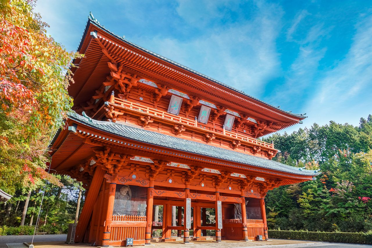 Daimon,Gate,,The,Ancient,Entrance,To,Koyasan,In,Wakayama, Kansai