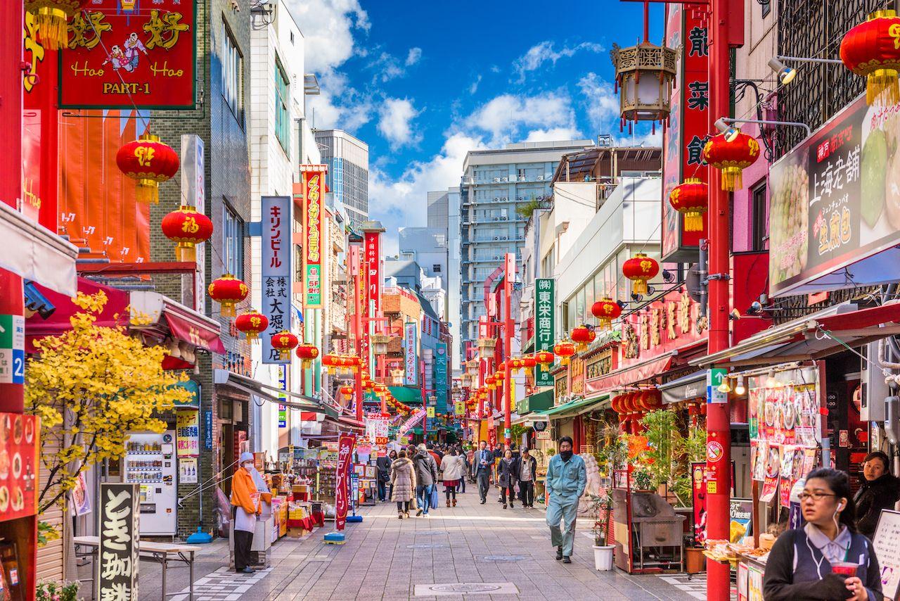 Kobe,,Japan,-,December,17,,2015:,Chinatown,District,Of,Kobe, Kansai