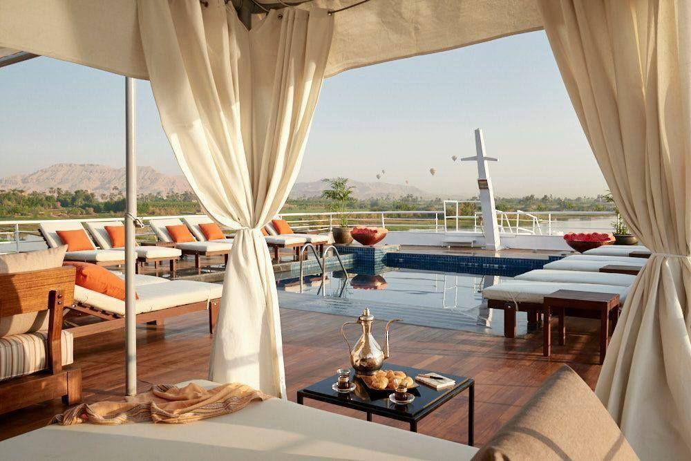 luxury boat, nile cruise