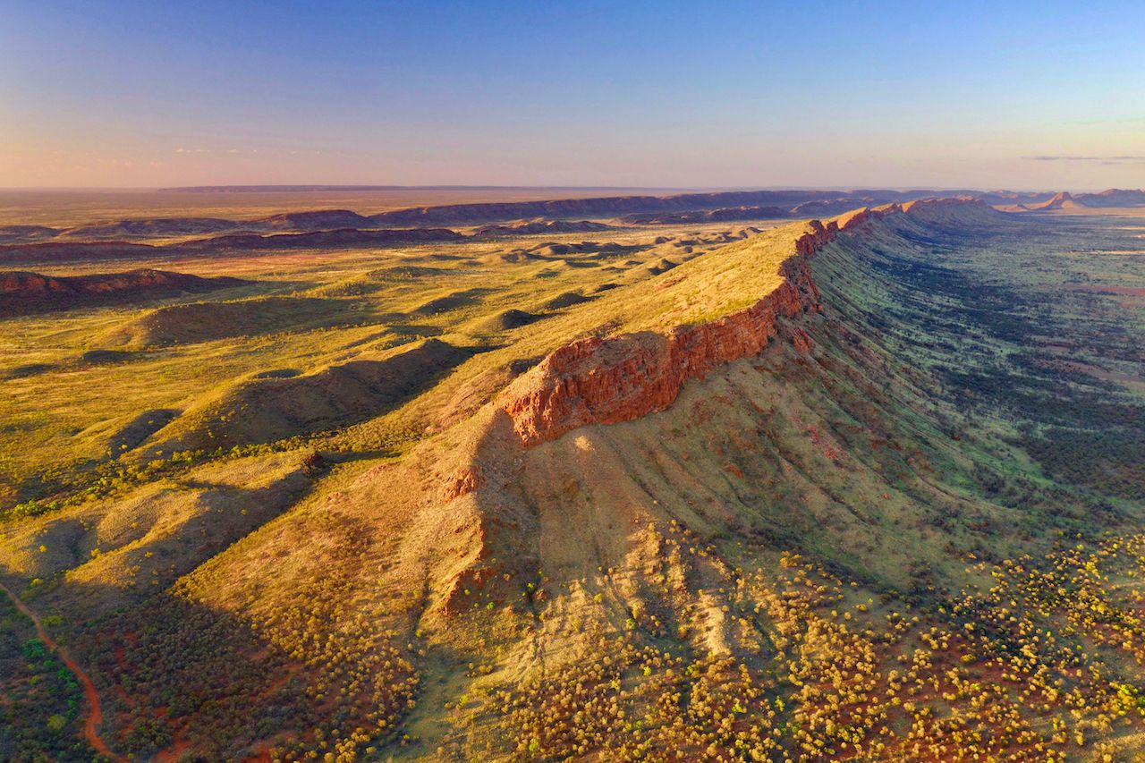 West MacDonnell Ramges, near Alice Springs, Northern Territory, Australia - view from tourist helicopter, The Red Centre Way