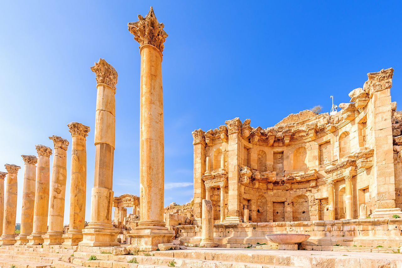 Nymphaeum,In,The,Roman,City,Of,Gerasa,,Preset-day,Jerash,,Jordan, Trip to Jordan