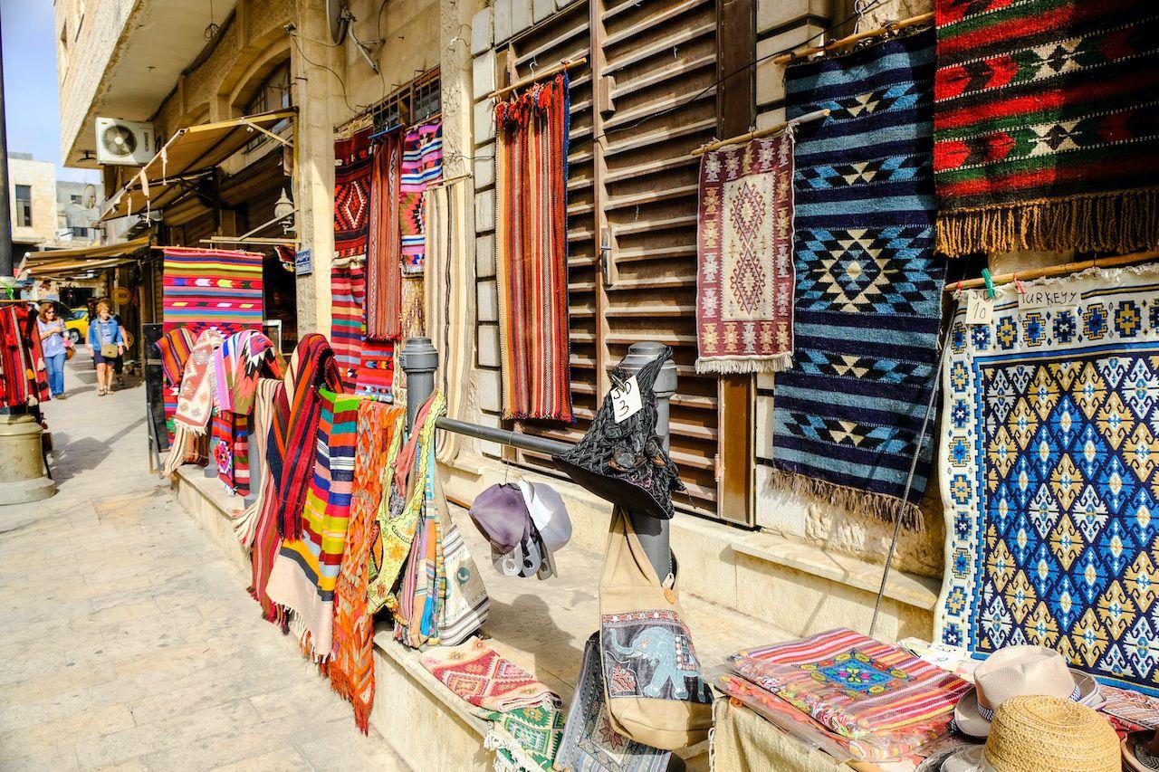 Madaba,,Jordan,-,Oct,24th,2018:,Souvenirs,Street,In,Madaba,Trip to Jordan