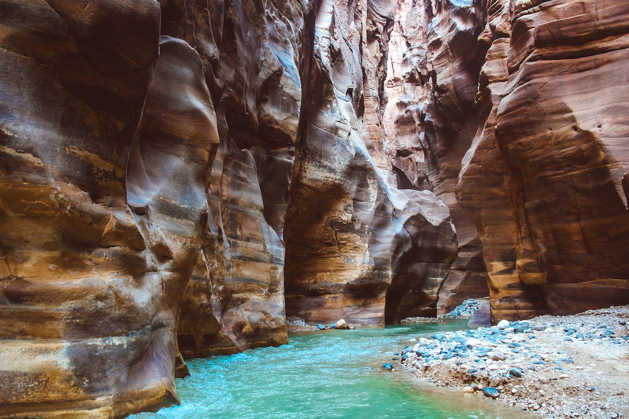 River,Canyon,Of,Wadi,Mujib,In,Amazing,Golden,Light,Colors, Trip to Jordan