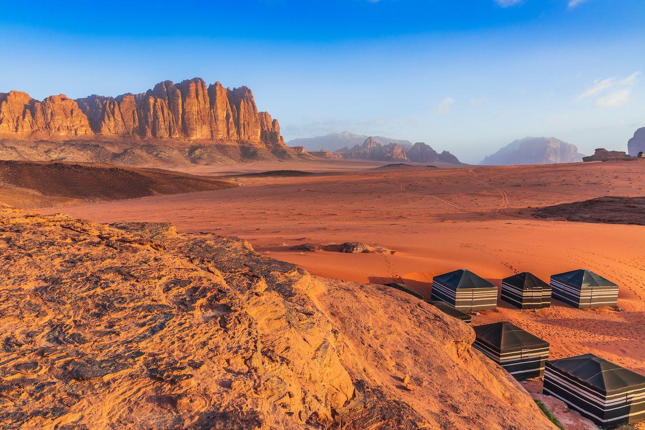 Wadi,Rum,Desert,,Jordan.,The,Red,Desert,And,Bedouin,Camp., Trip to Jordan