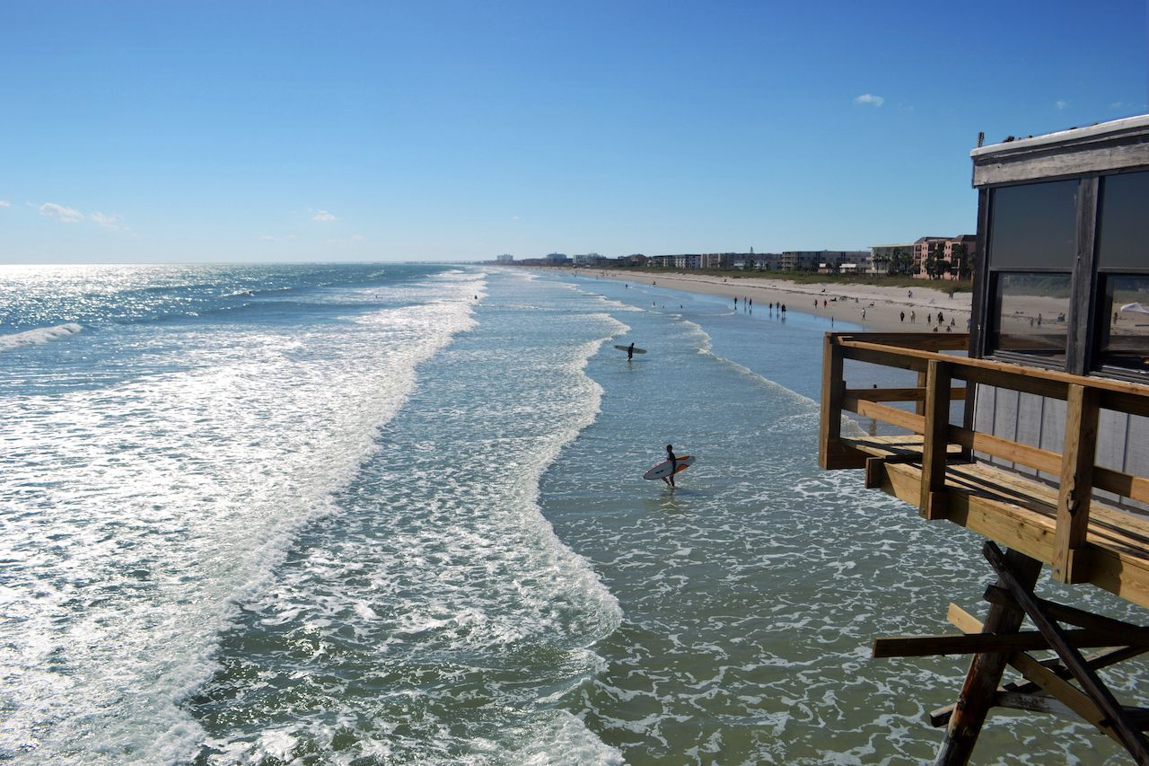 Surfers,At,Cocoa,Beach,,Florida, US Olympic surf team