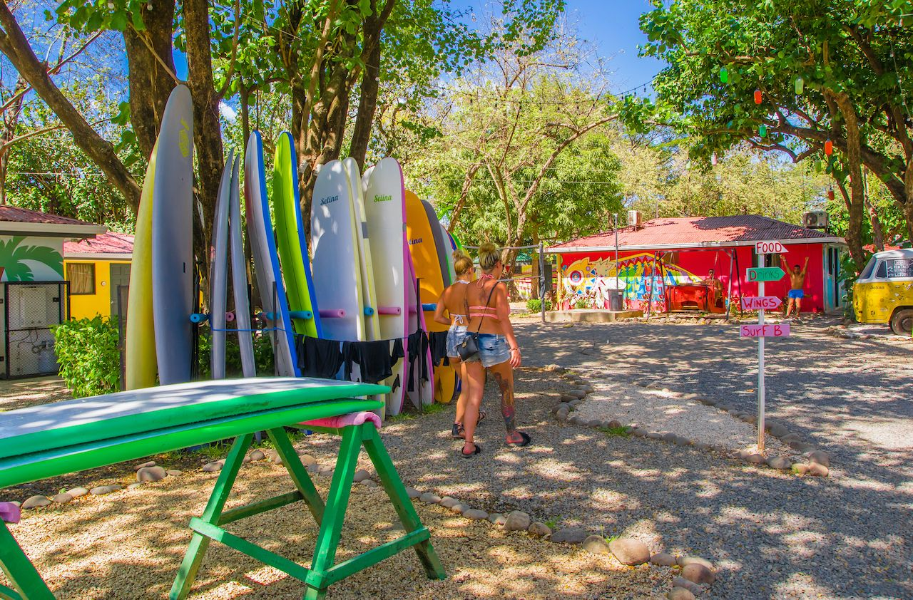 Tamarindo,,Costa,Rica,,June,,26,,2018:,Outdoor,View,Of,Gorgeous,  beach town for solo travelers