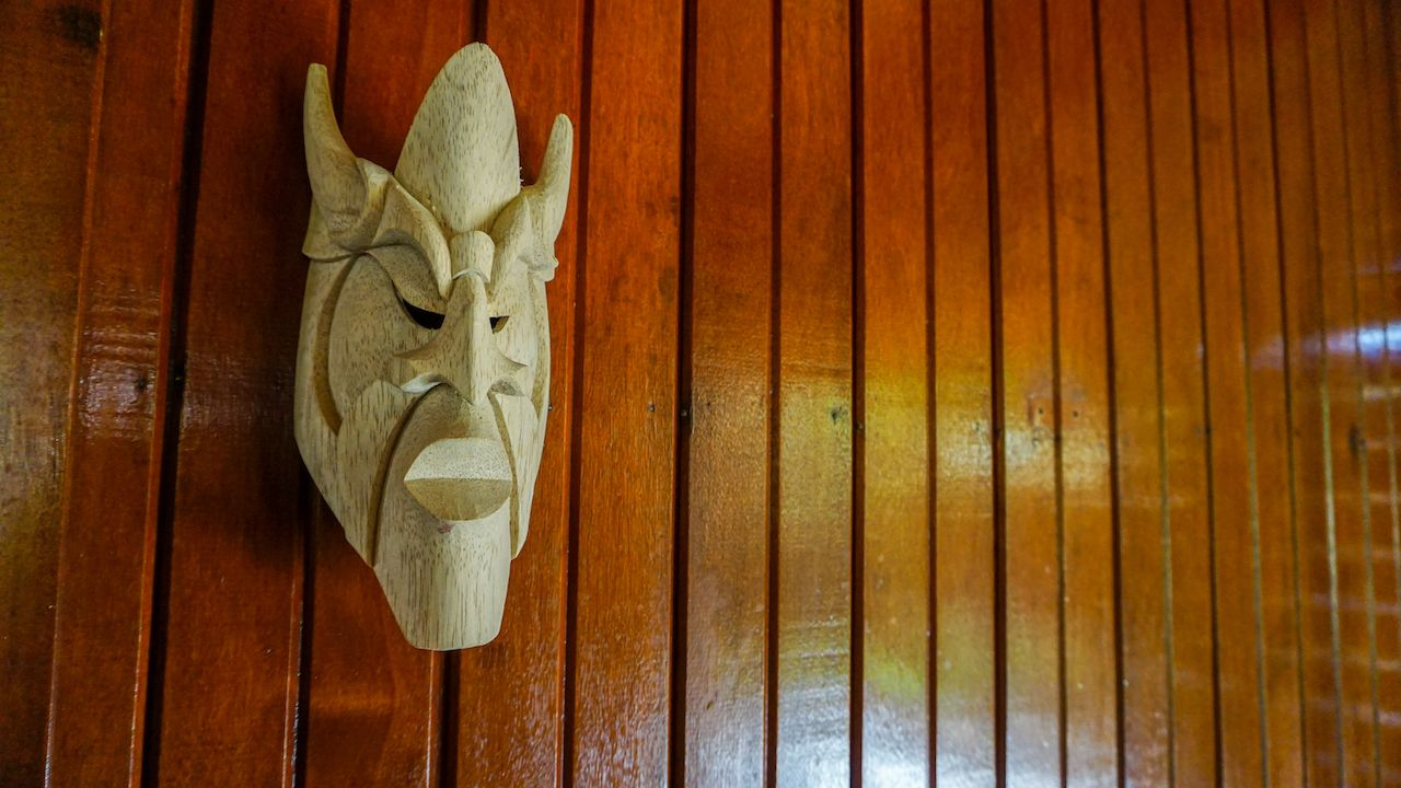 Close,Up,Decorative,Detail,Of,A,Handmade,Wooden,Tribal,Boruca,  beach town for solo travelers