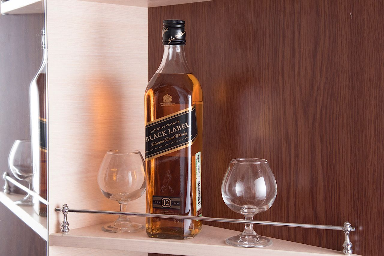 Perm,,Russia,,January,2021.,Bottle,Of,Johnnie,Walker,Black,Label,  scotch whisky
