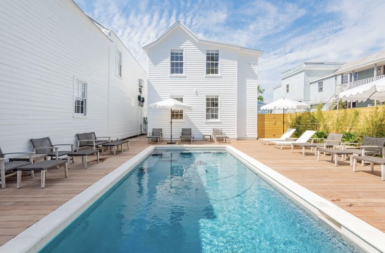 Charming historic downtown house with pool, charleston airbnbs