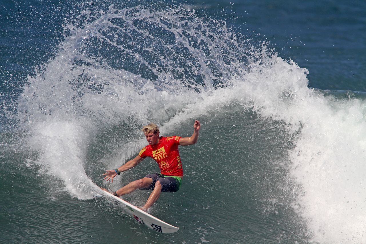 HAWAII - NOVEMBER 24: John John Florence takes second place at the Reef Hawaiian Pro, stage one of the Vans Triple Crown of Surfing November 24, 2012 at Haleiwa Beach Park., US Olympic surf team