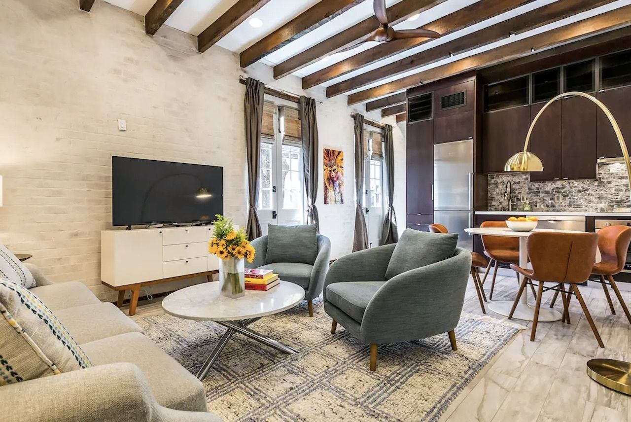 Modern take on historic merchant building in French Quarter, New Orleans Airbnbs
