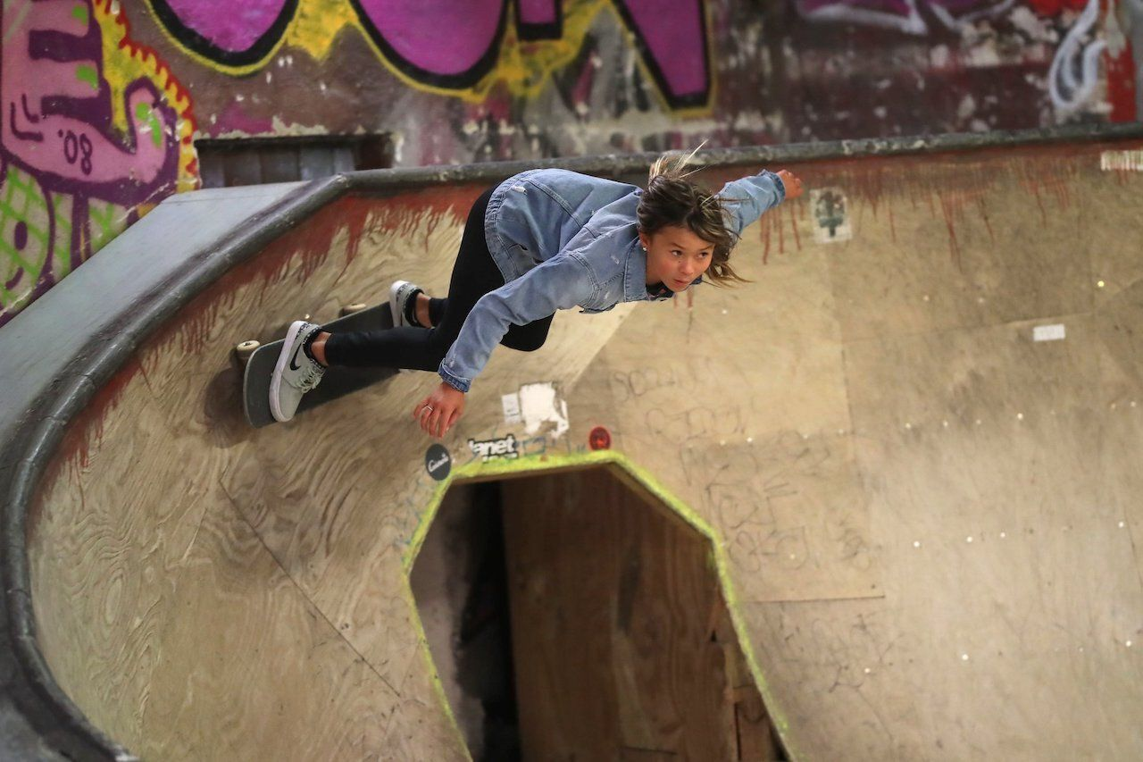 Laureus Sport for Good visits a Skateistan in Berlin skateboarding, new sports at the Tokyo Olympics