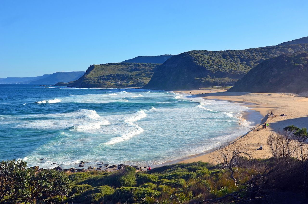 Cliffs,And,Vegetation,Surrounding,Garie,Beach,On,The,New,South, Camping near Sydney