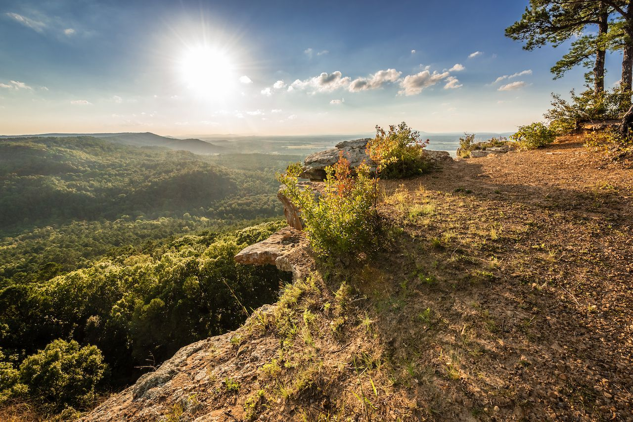 Sunset,On,Bluff,In,The,Ozarks,At,Petit,Jean,State, Arkansas state parks