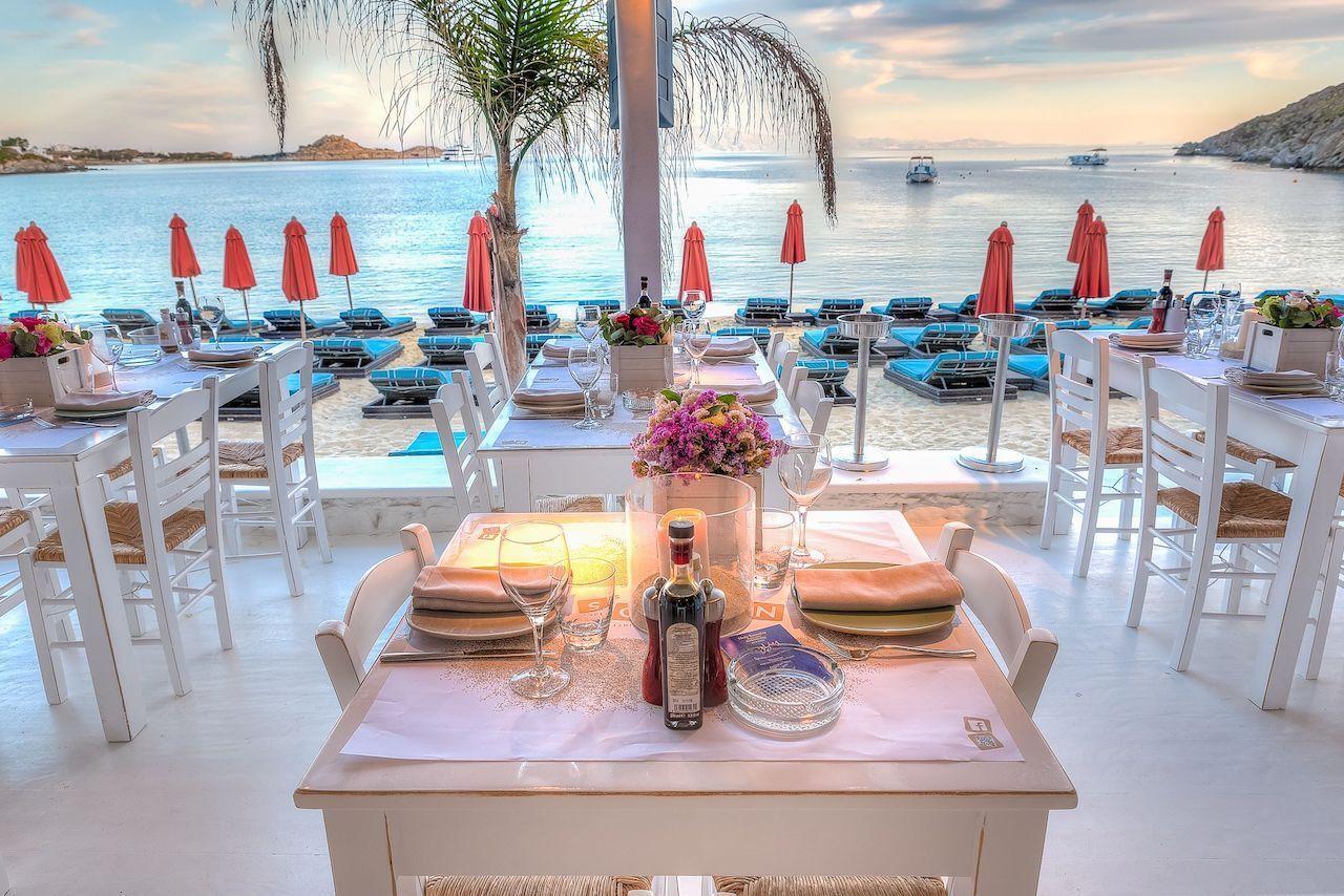 European beach clubs Nammos Mykonos