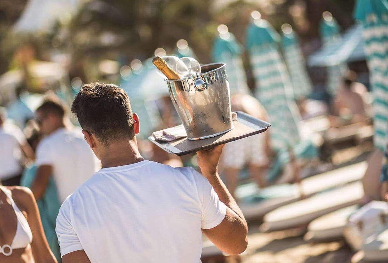 European beach clubs Nammos Mykonos Bar