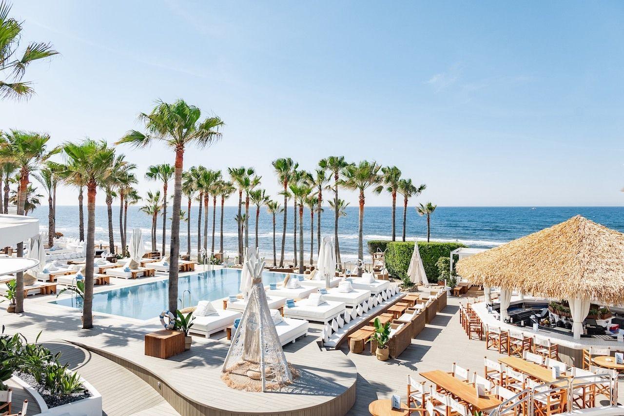 European beach clubs Nikki Beach Marbella Spain