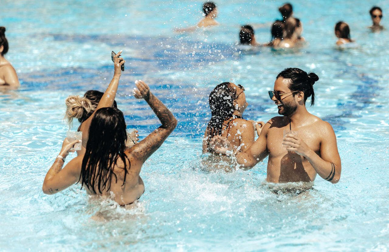 European beach clubs Ocean Club Marbella Spain pool